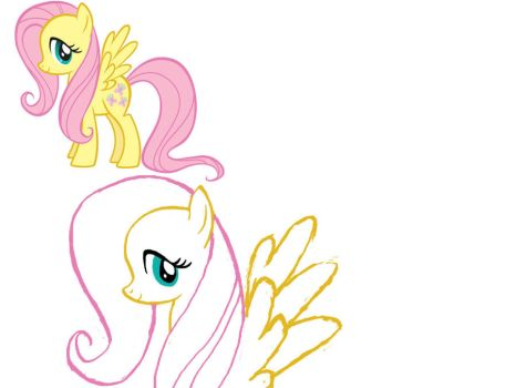 First Fluttershy by Bekumboo22