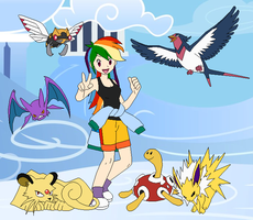 Rainbow Dash's Pokemon Team