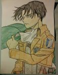 Levi Ackerman Coloured by Rambo-Jewsters