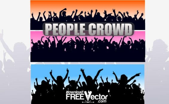 Vector People Crowd by downloadfreevector