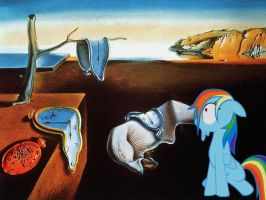 Rainbow Dash and The Persistence of Memory by normanb88