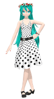 .:Rockabilly Dress Miku:. by PiettraMarinetta