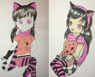 Draw this again!! 7 months of improvement. by VliegendeFiets
