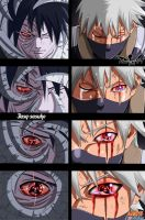 Kakashi and Obito [[Collab]] by honchkrow14