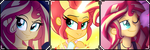 Sunset Shimmer ~ Page decoration by CookieChanS2