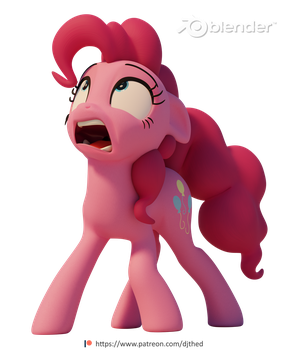 Frightened Pinkie by TheRealDJTHED