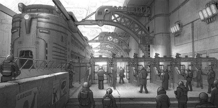 Train Station by martydesign