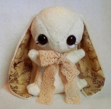 Florence - Teacup Bunny Plushie - sold by tiny-tea-party