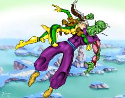 Rogue vs Piccolo by Toadman005