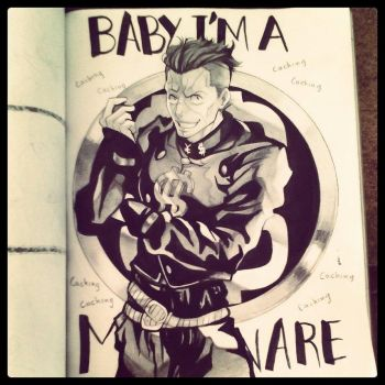 [JJBA] Okuyasu Ink sketch by Moonzetter