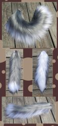 22 inch gray and white - Commission Yarn Tail by Black-Heart-Always