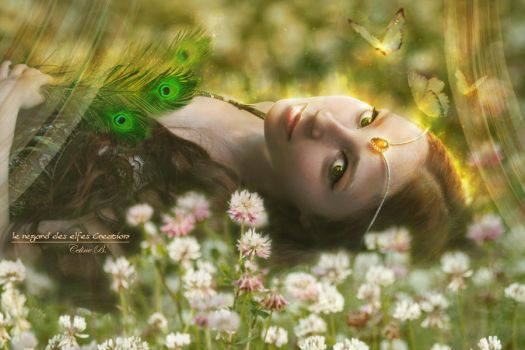 The Green Feathers by Le-Regard-des-Elfes
