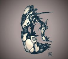 Mecha concept sketch by andreabianco