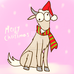 Gift for Dhim - Oliver the Mountain Goat by SailorBomber