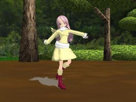 MMD Newcomer Fluttershy by Pharaoh-Yami