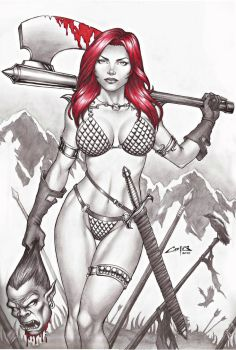 RED SONJA, ON E-BAY AUCTION NOW !!! by carlosbragaART80