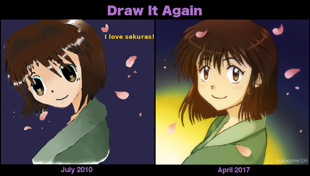 Draw It Again - Pink Sakuras / Cherry Blossoms by inukagome134