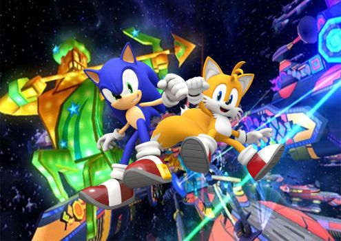 Sonic + Tails in Starlight Carnival by Griddler6