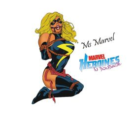 Ms Marvel in bondage by Mikey111