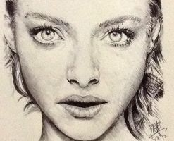 Pen portrait of Amanda Seyfried by chaseroflight