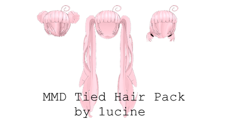 MMD Tied Hair Pack by 1ucine