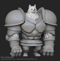 Greater Dog - 3D Doodle by GaryStorkamp
