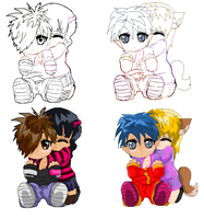 Emo or Chibi couple base by Kitrei-Sirto