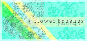 Photoshop 7.0 Flower Brushes 2 by daniesque