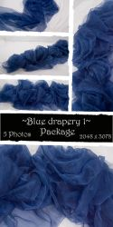 Blue drapery Package 1 by almudena-stock