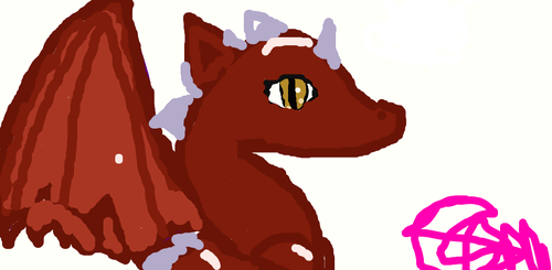 Adventurein from dragon with a choclate hesrt