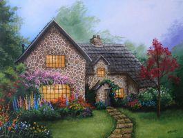 Cobblestone Cottage by Kchan27