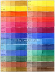 Schmincke Horadam One Pigment Colour Layer Chart by Leochi