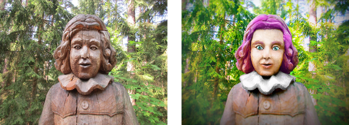 Wooden Girl Before and After by TheNeverEndingPit