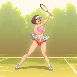 Steph 'playing' Tennis by miss-mcl