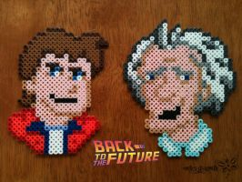 Marty McFly and Doctor Emmet Brown by RockerDragonfly