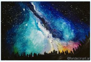 Night sky and the stars by feridecinarli