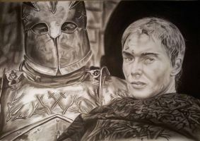 Cersei Lannister, the mountain (Game of thrones) by mchofmann