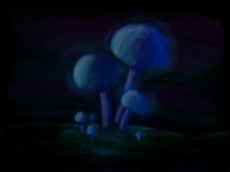 DS Doodles - Glowing Fungi by Ageman20XX