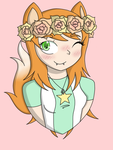 Ginger flower crown by RebelRenee36