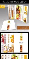 Restaurant Menu Design by sluapdesign