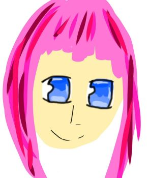 Pink haired girl by Doggy9279