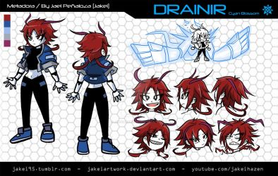 [METADORA] DRAINIR CHARACTER SHEET by JakeiArtwork