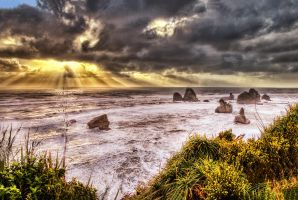 Motukiekie Rocks  by Capturing-the-Light