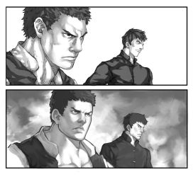 Comic Book Panel Before - After by Mick-cortes