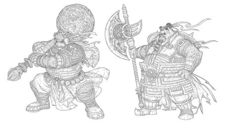 Warrior and Monk by lordeeas