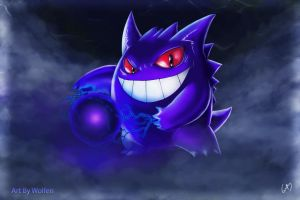 GENGAR POKEMON by Wolfen-C