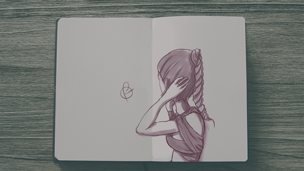 Sketchday #5 - Girl by Illuday