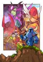 Shovel Knight Official Design Works cover by edwinhuang