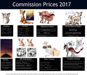 Updated 2017 Commission Sheet by JK-Draws