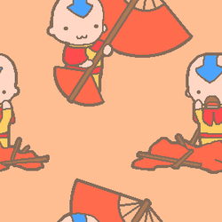 Tile: Aang with Glider by soulnet